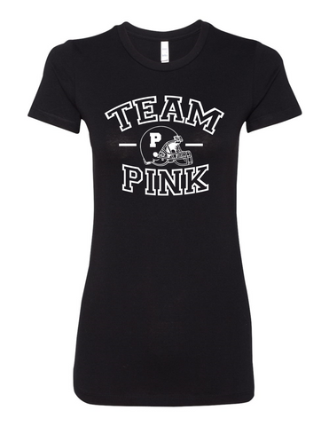 Team Pink Football Gender Reveal 6004 Premium Women'S Crewneck T Shirt Slogan