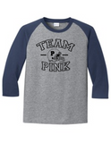 Team Pink Football Gender Reveal 5700 Raglan T Shirt