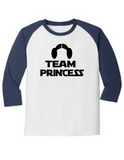 Team Princess Gender Reveal 5700 Raglan T Shirt