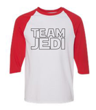Team Jedi Gender Reveal 5700 Raglan T Shirt
