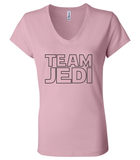 Team Jedi Gender Reveal 6005 Womens Premium V-Neck T-Shirt