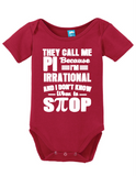 They Call Me Pi Onesie Funny Bodysuit Baby Romper