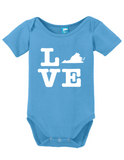 Virginia Love Onesie Funny Bodysuit Baby Romper