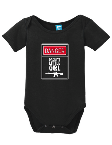 Warning Daddys Little Girl Onesie