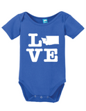 Washington Love Onesie Funny Bodysuit Baby Romper