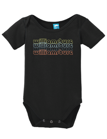 Williamsburg Virginia Retro Onesie Funny Bodysuit Baby Romper