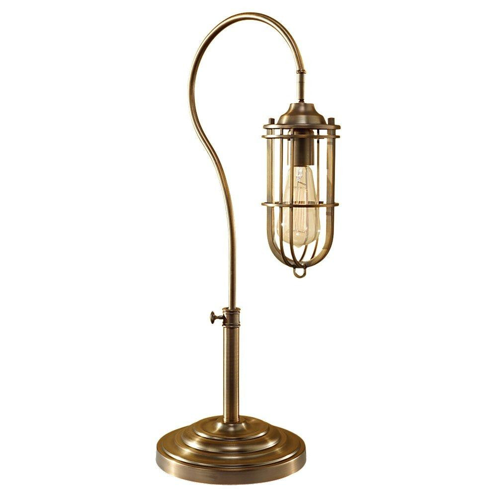 Feiss 10195DAB-B One Light Dark Antique Brass Dark Antique Brass Metal Shade Table Lamp