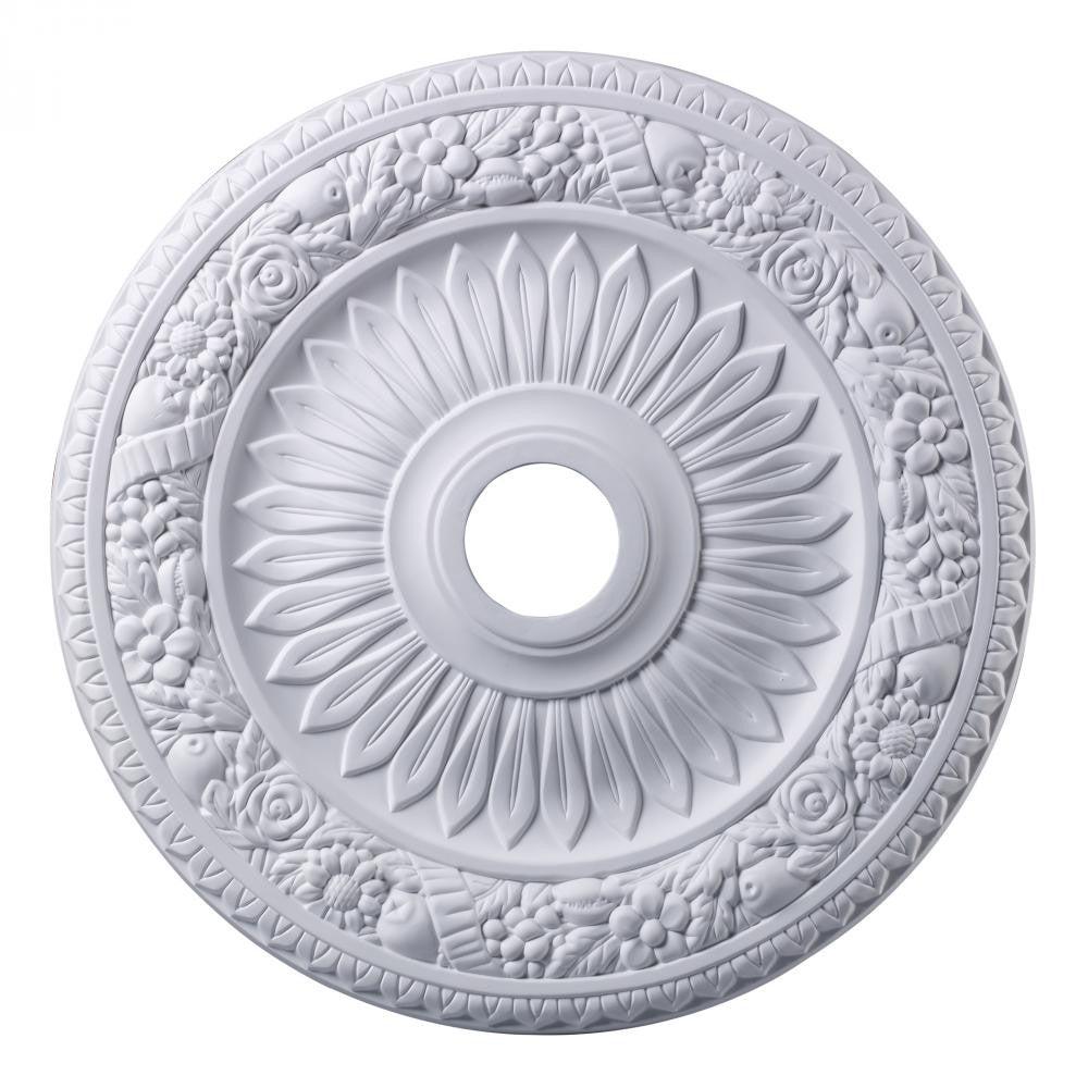 ELK Lighting M1006WH Floral Wreath 24-Inch Medallion In White