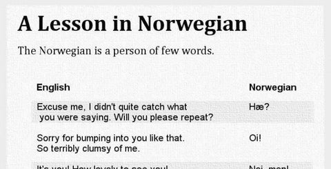 what does dating mean in norway