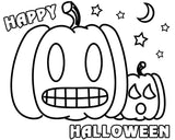 Pumpkin Happy Halloween Coloring Page