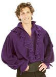 Purple Mens Pirate Shirt - HalloweenCostumes4U.com - Adult Costumes