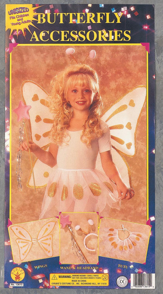 White & Yellow Butterfly Accessory Kit - HalloweenCostumes4U.com - Accessories