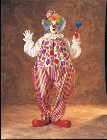 Adults Snazzy Clown Costume - HalloweenCostumes4U.com - Adult Costumes
