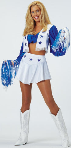 Womens/Teens Dallas Cowboys Cheerleader Costume - HalloweenCostumes4U.com - Adult Costumes