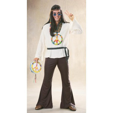 Mens Groovy Hippie Costume - HalloweenCostumes4U.com - Adult Costumes