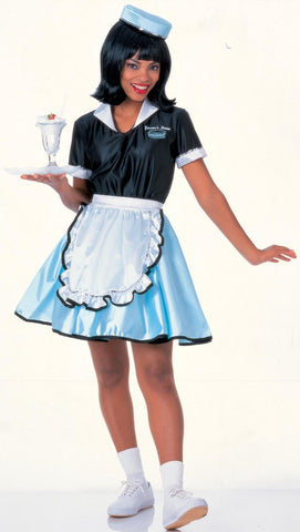 Womens Car Hop Costume - HalloweenCostumes4U.com - Adult Costumes