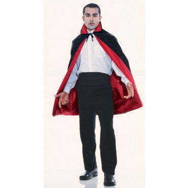 Red/Black Reversible Taffeta Cape - HalloweenCostumes4U.com - Accessories