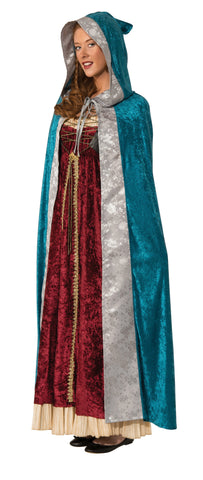 Adults Blue Camelot Cape - HalloweenCostumes4U.com - Accessories