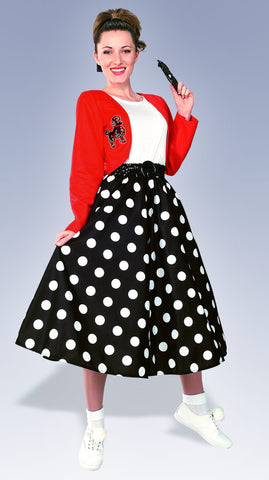 Womens Polka Dot Rocker Costume - HalloweenCostumes4U.com - Adult Costumes