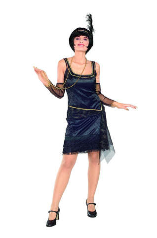 Womens Speak Easy Flapper Costume - HalloweenCostumes4U.com - Adult Costumes