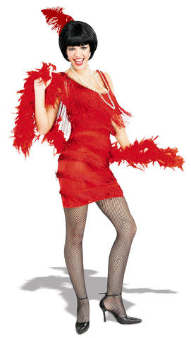 Womens/Teens Roarin' Red Flapper Costume - HalloweenCostumes4U.com - Adult Costumes