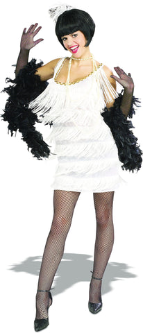 Womens White Broadway Flapper Costume - HalloweenCostumes4U.com - Adult Costumes