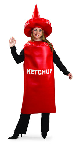 Adults Ketchup Bottle Costume - HalloweenCostumes4U.com - Adult Costumes