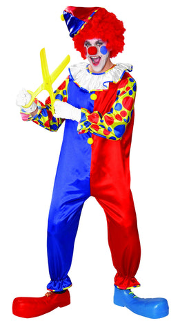 Adults Bubbles the Clown Costume - HalloweenCostumes4U.com - Adult Costumes