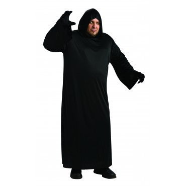 Mens Plus Size Black Robe Costume - HalloweenCostumes4U.com - Adult Costumes