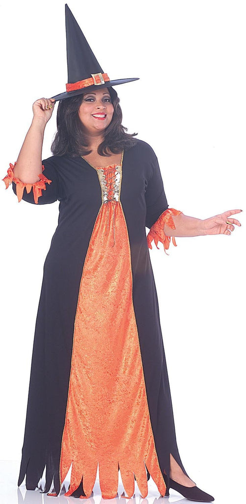 Womens Plus Size Gothic Witch Costume - HalloweenCostumes4U.com - Adult Costumes