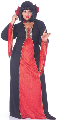 Womens Plus Size Gothic Vampiress Costume - HalloweenCostumes4U.com - Adult Costumes