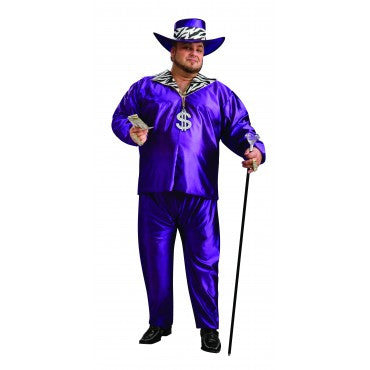 Mens Plus Size Big Daddy Pimp Costume - HalloweenCostumes4U.com - Adult Costumes