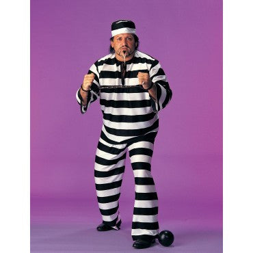 Mens Plus Size Convict Costume - HalloweenCostumes4U.com - Adult Costumes
