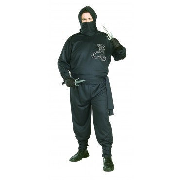 Mens Plus Size Ninja Costume - HalloweenCostumes4U.com - Adult Costumes