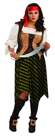 Womens Plus Size Pirate Wench Costume - HalloweenCostumes4U.com - Adult Costumes