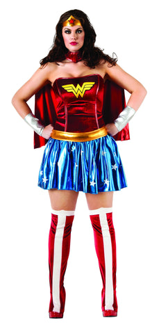 Womens Plus Size Wonder Woman Costume - HalloweenCostumes4U.com - Adult Costumes