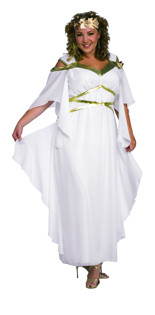 Womens Plus Size Roman Goddess Costume - HalloweenCostumes4U.com - Adult Costumes