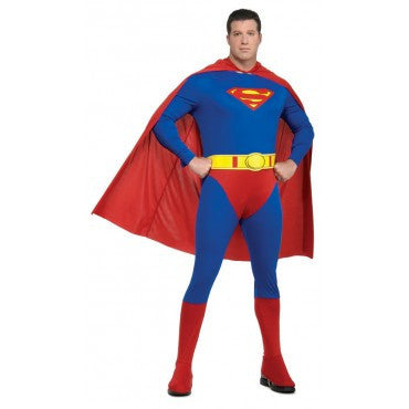 Mens Plus Size Superman Costume - HalloweenCostumes4U.com - Adult Costumes