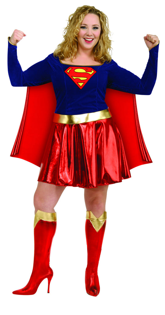 Womens Plus Size Supergirl Costume - HalloweenCostumes4U.com - Adult Costumes