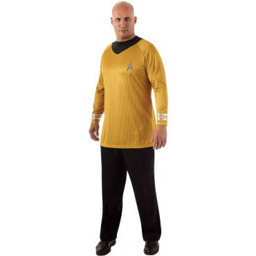 Mens Plus Size Star Trek Deluxe Captain Kirk Costume - HalloweenCostumes4U.com - Adult Costumes
