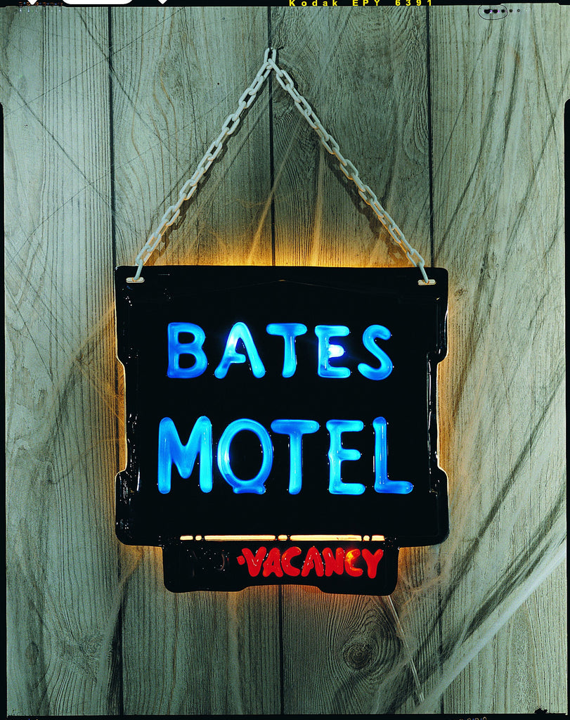 Bates Motel Light Up Sign - HalloweenCostumes4U.com - Decorations