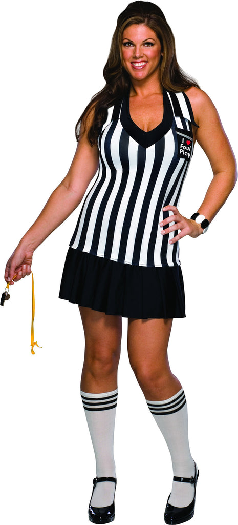 Womens Plus Size Foul Play Referee Costume - HalloweenCostumes4U.com - Adult Costumes
