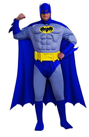 Mens Plus Size Deluxe Classic Batman Costume - HalloweenCostumes4U.com - Adult Costumes