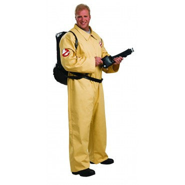 Mens Plus Size Deluxe Ghostbuster Costume - HalloweenCostumes4U.com - Adult Costumes