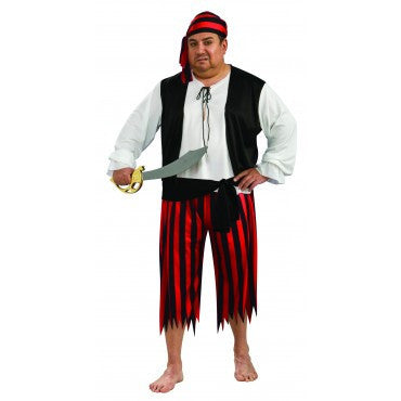 Mens Plus Size Pirate Man Costume - HalloweenCostumes4U.com - Adult Costumes