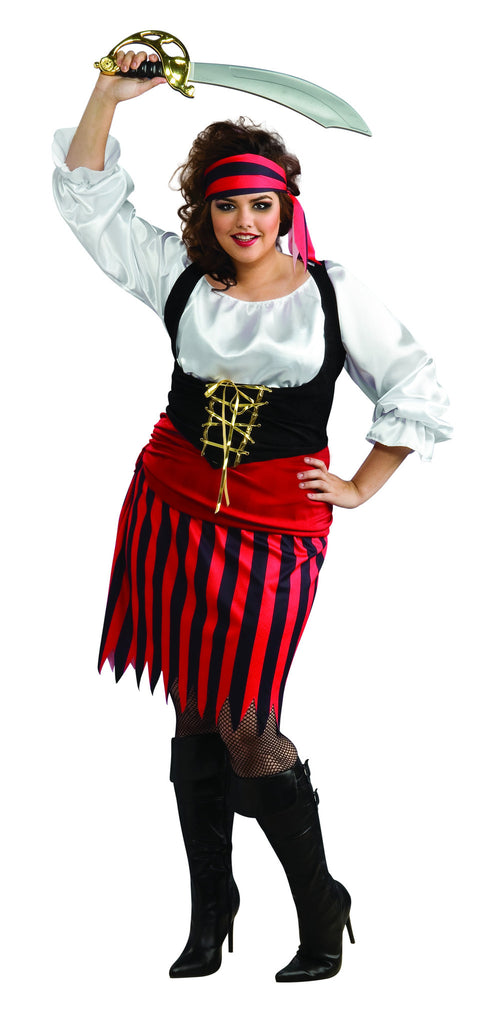 Womens Plus Size Pirate Girl Costume - HalloweenCostumes4U.com - Adult Costumes