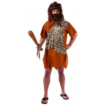 Mens Plus Size Caveman Costume - HalloweenCostumes4U.com - Adult Costumes