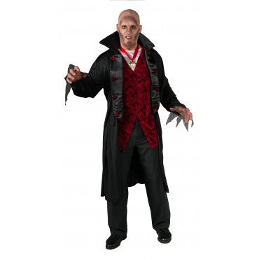 Mens Plus Size Royal Vampire Costume - HalloweenCostumes4U.com - Adult Costumes