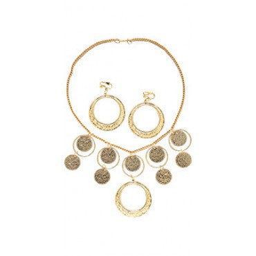 Goldtone Necklace and Earrings - HalloweenCostumes4U.com - Accessories