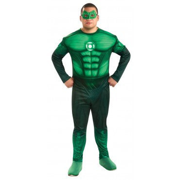 Mens Plus Size Deluxe Green Lantern Costume - HalloweenCostumes4U.com - Adult Costumes